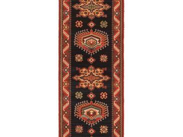 Brink & Campman Tapis de couloir en laine Emir Noir 70x400 cm - Tapis nature
