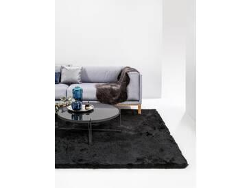 Tapis shaggy à poils longs Whisper Noir 80x150 cm - Tapis doux pour salon