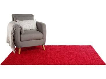 Tapis shaggy à poils longs Swirls Rouge 300x400 cm - Tapis doux pour salon