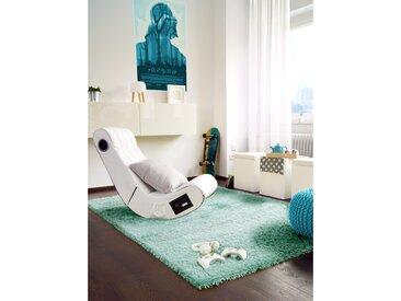 Tapis shaggy à poils longs Sophie Turquoise 60x115 cm - Tapis descente de lit