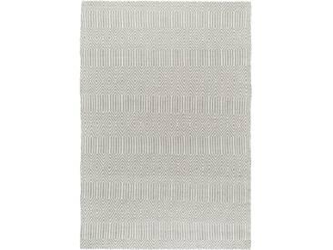 Tapis poil ras Sloan Gris 100x150 cm - Tapis poil court design moderne pour salon