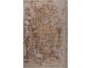 Tapis Vintage tisséàplat Frencie Marron 300x400 cm - Tapis poil ras / effet usé