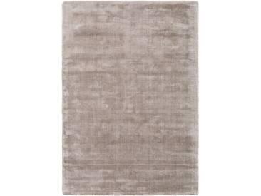 Tapis poil ras Donna Viscose Gris clair 120x170 cm - Tapis poil court design moderne pour salon