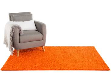 Tapis shaggy à poils longs Swirls Orange 240x340 cm - Tapis doux pour salon