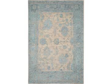 Tapis poil ras Vintage Frencie Flora Bleu 200x285 cm - Tapis poil court design moderne