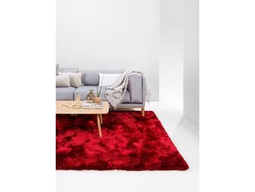 Tapis shaggy à poils longs Whisper Rouge 140x200 cm - Tapis doux pour salon
