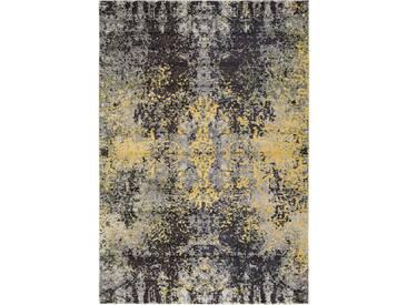 Tapis Vintage Casa Anthracite/Jaune 120x170 cm - Tapis poil ras / effet usé