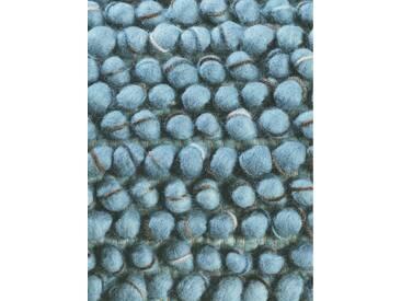 Brink & Campman Tapis en laine à poils longs Cobble Bleu 140x200 cm - Tapis nature