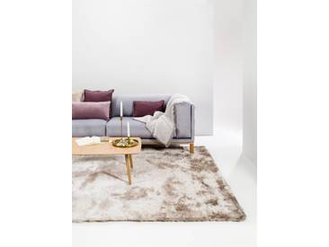 Tapis shaggy à poils longs Whisper Beige/Marron clair 300x400 cm - Tapis doux pour salon