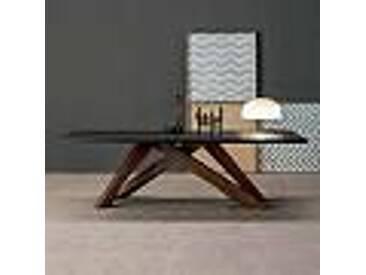 Bonaldo Big Table table en bois massif et acier, faite en Italie