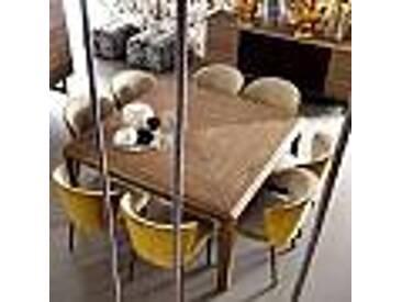 Table carrée en bois massif Grilli York de design, faite en Italie