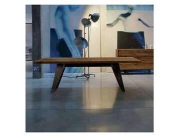 Table en bois massif de aulne naturel de design moderne, Antonio