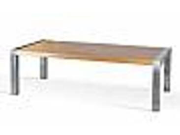 Table à manger rectangulaire en bois de chêne et acier Frodo