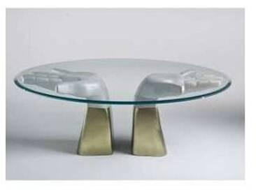Table à manger en bois avec dessus en verre, produit italien, Bartolo