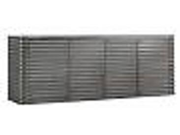 Meuble avec 4 portes en bois moulurés de design, L230xP49 cm, Dana