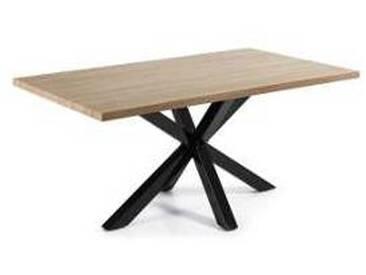 Table rectangulaire moderne en bois et métal Hita