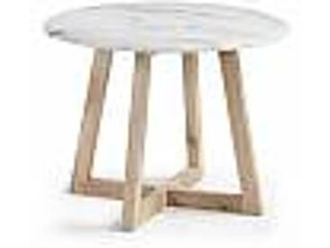 Table de design moderne avec plateau en marbre blanc Lafrer