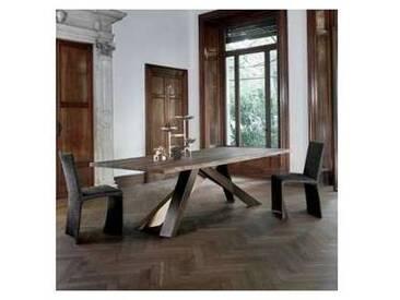 Bonaldo Big Table table en bois massif bords naturels faite en Italie
