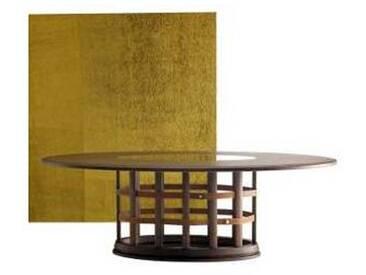 Table elliptique moderne, bois massif Grilli Harris faite en Italie