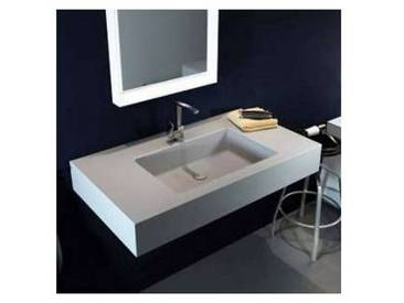Lavabo suspendu de design moderne en Luxolid made in Italy Ruffano