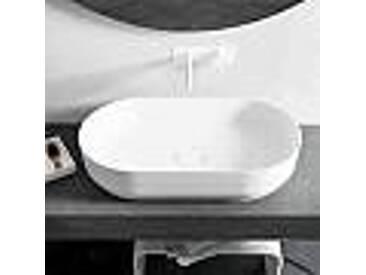 Vasque à poser ovale Dalmine Big de design moderne, made in Italy