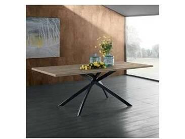 Table de design avec plateau en laminé finition chêne 160x90cm David