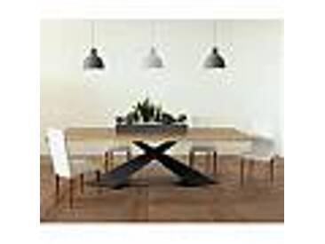 Table à manger design moderne avec plateau Elliot made in Italy en chêne
