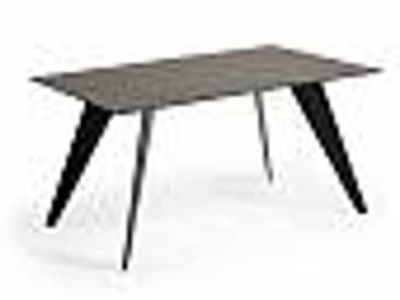 Table Chameli en verre, métal et pierre/céramique de design