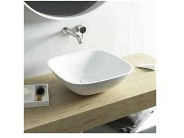 Lavabo carré à poser Taormina Mini design moderne, faite en Italie