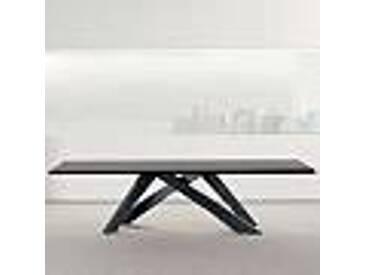 Bonaldo Big Table table bois massif gris anthracite faite en Italie