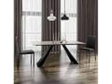 Table en vitrocéramique et métal moderne faite en Italie Weston