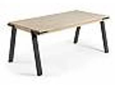 Table rectangulaire en bois et métal Kiran, design moderne