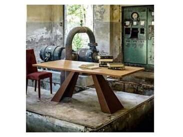 Table à manger avec plateau en bois et pieds en métal 100x200 cm Flora