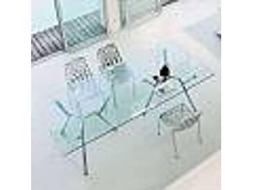 Fast Radice Quadra table de jardin en cristal faite en italie