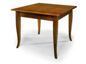 Table en bois moderne jambes à sabre 90x90cm design italien Gerry