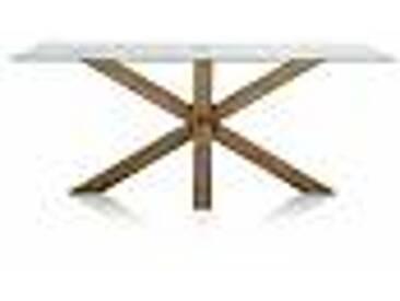 Table de salle à manger en bois et verre 200x100 faite en Italy Airone