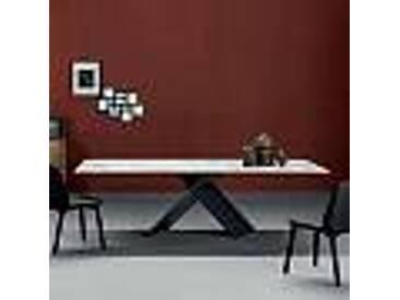 Bonaldo Ax table design plateau céramique, base métal faite en Italie