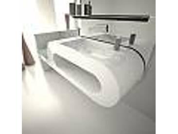 Lavabo de design moderne blanc, noir ou bordeaux Garfish