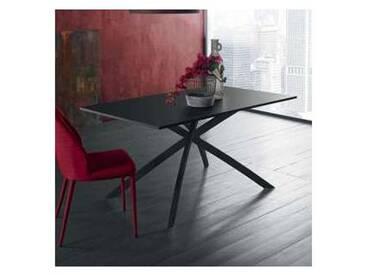 Table de design 140x90cm avec plateau en mélaminé anthracite, David