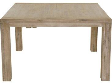 Table Repas Carrée 130 X 130 Cm Avec Allonge En Acacia Nevada - Grenier Alpin