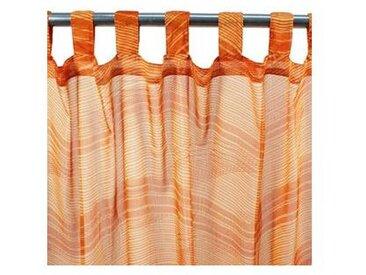 Voilage ONDES à pattes 110x250 orange