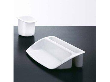 Pot à crayons gamme Black & White - polycarbonate blanc brillant