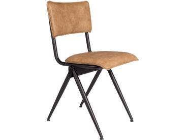 2 chaises Willow en métal et simili cuir