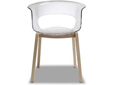 Chaise design avec pieds bois - NATURAL MISS B Antishock - déco originale