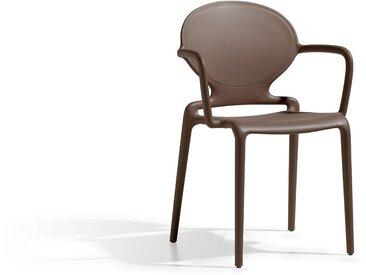 4 Chaises design GIO à accoudoirs - intérieur et extérieur