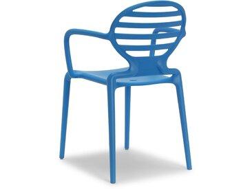 4 Chaises design avec accoudoirs COKKA - Lot de 4 - extérieur et interieur