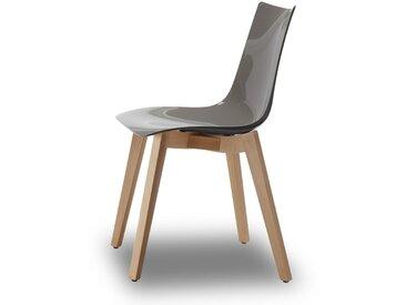 Chaise design avec pieds bois naturel - NATURAL ZEBRA Antishock - Vendu à l'unité - déco originale