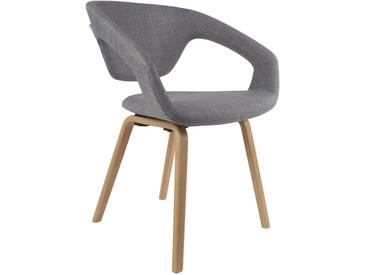 Chaise design Flex back pieds bois naturels - zuiver