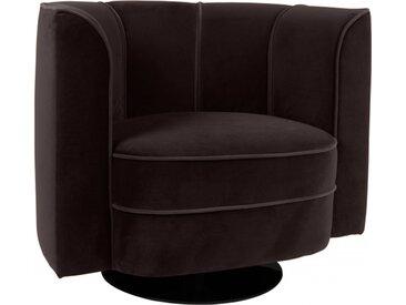 Fauteuil lounge Flower noir