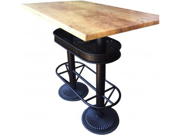 Table haute industrielle Oldwood